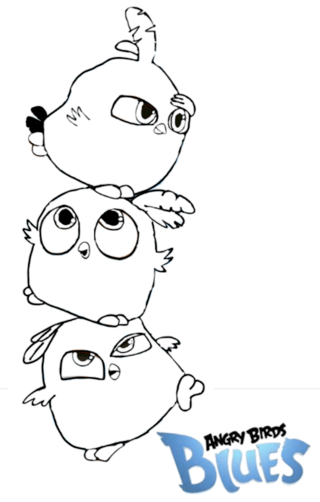angry birds blues coloring pageangrybirdstiff on