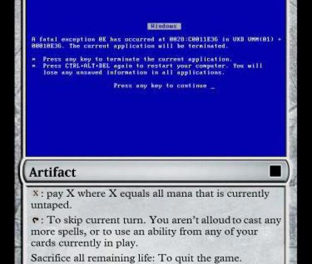Mtg Blue Screen Of Death 01 By Gerald156