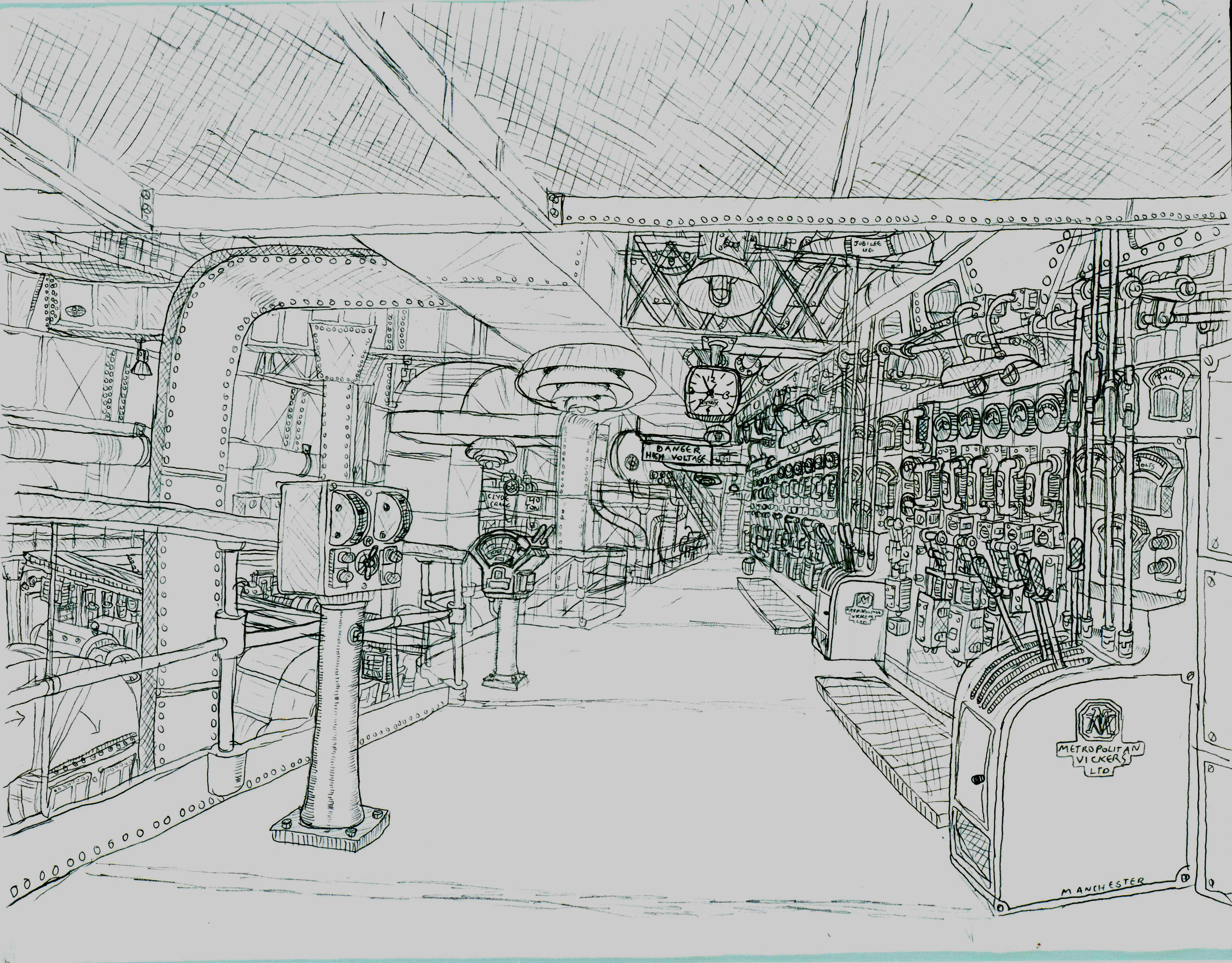 Rms London Turbogenerator Room By Ninjapickle On Deviantart