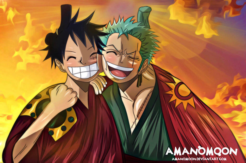 Download one piece land of wano for desktop or mobile device. One Piece Chapter 912 Luffy Zoro Reunite Colors by ...