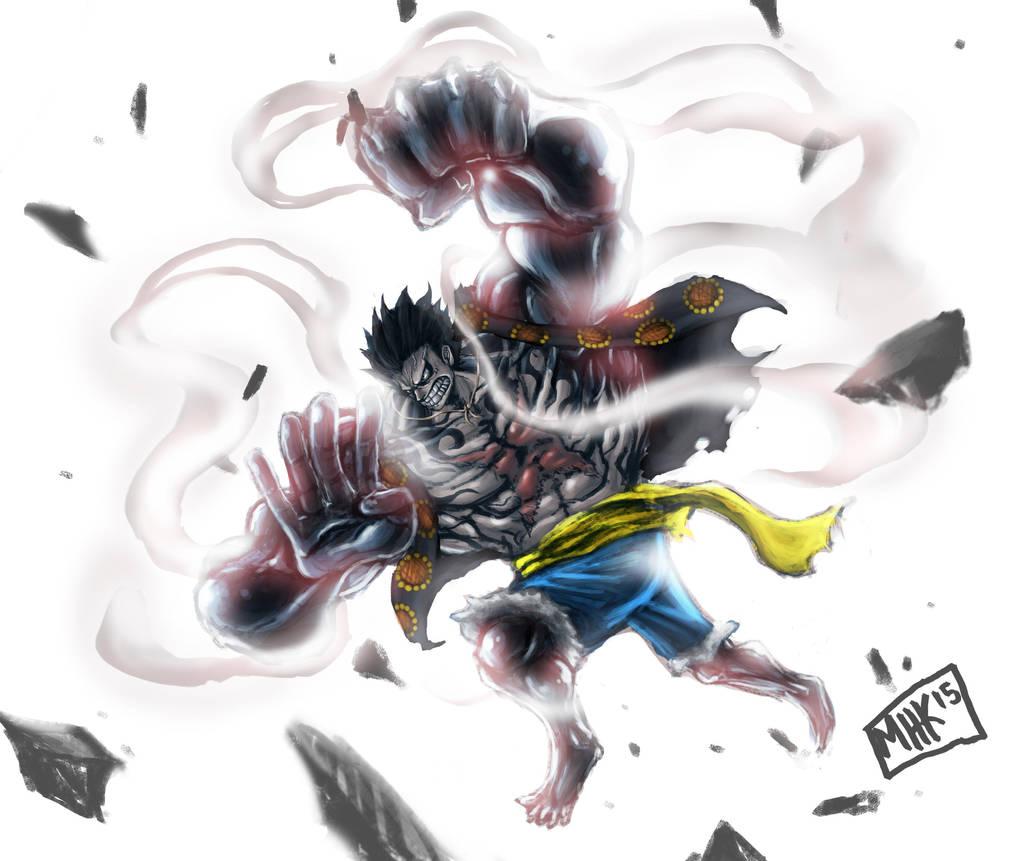 Using gear fourth also affects luffy's. Gear 4th Pound Man / Bounce man Luffy by pematungWan on ...