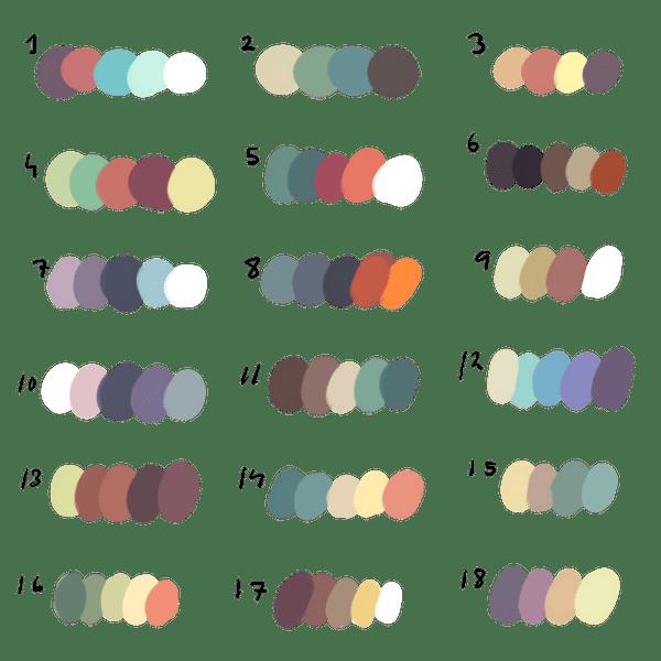 Freetouse Colour Palette By Dexikon