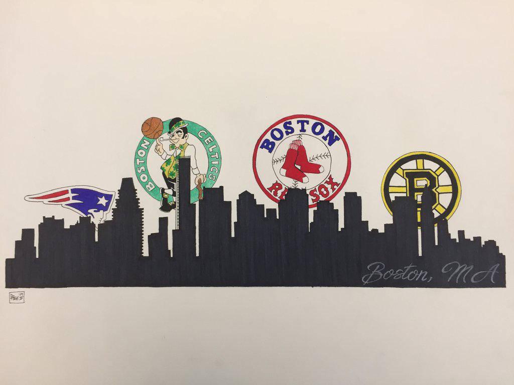 Red Boston Celtics Sox Bruins Patriots Boston