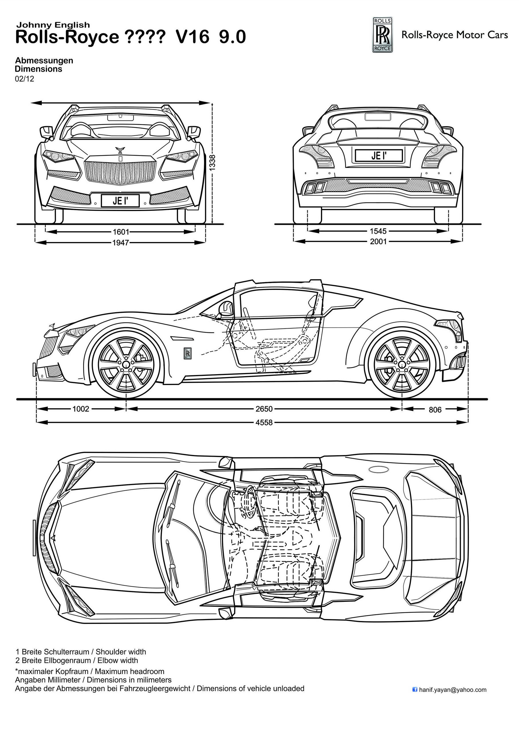 Johnny English Rolls Royce Design Blueprints By Hanif
