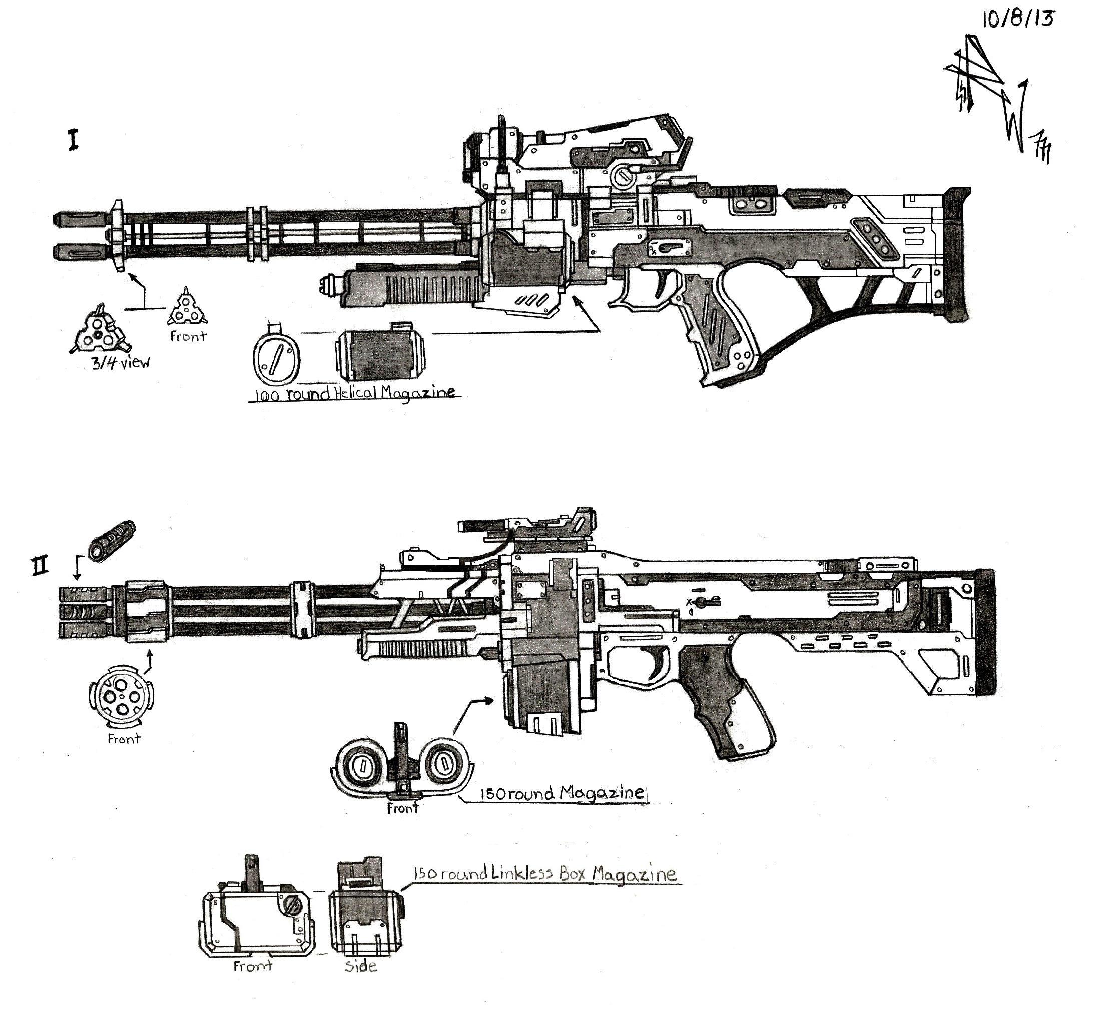 Weapon Concept Heavy Rifles By Redw0lf777sg On Deviantart