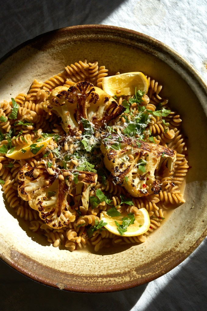 Beer-roasted Cauliflower with Pasta