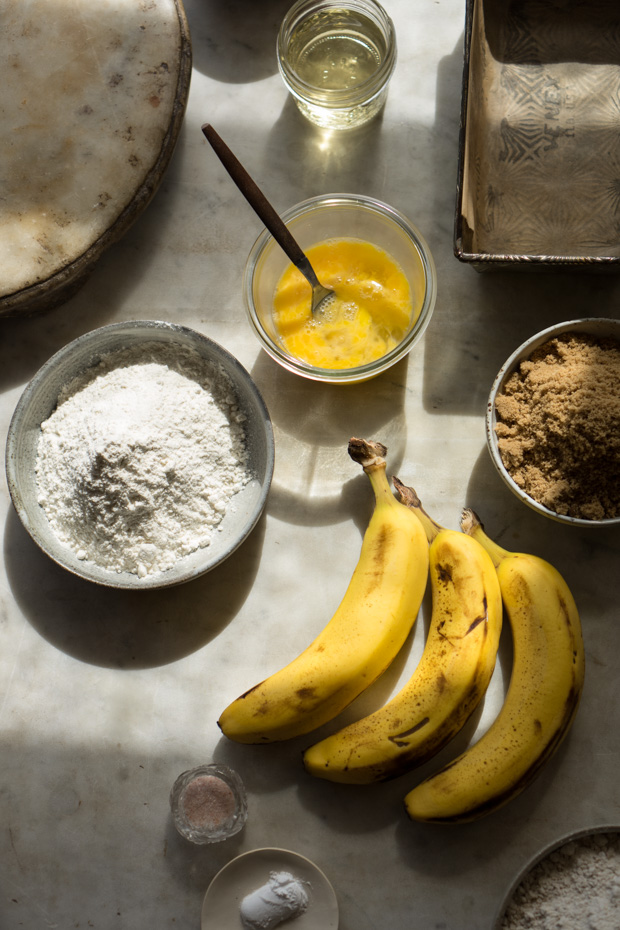 Ingredientes de pan de banana