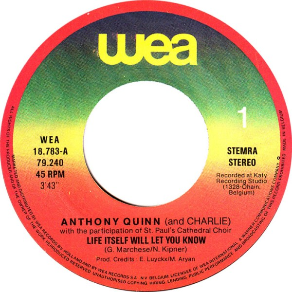 45cat - Anthony Quinn (And Charlie) - Life Itself Will Let ...