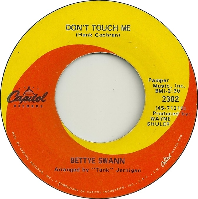 Image result for don't touch me bettye swann single images