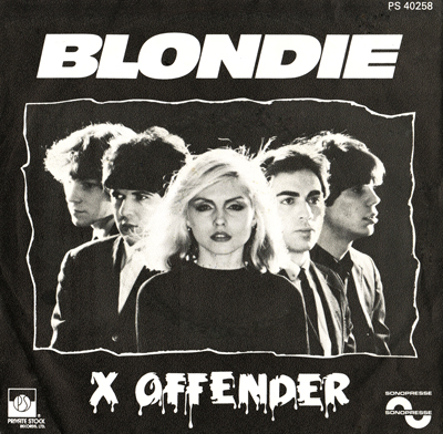 "Image result for images BLONDIE - "" X-Offender """