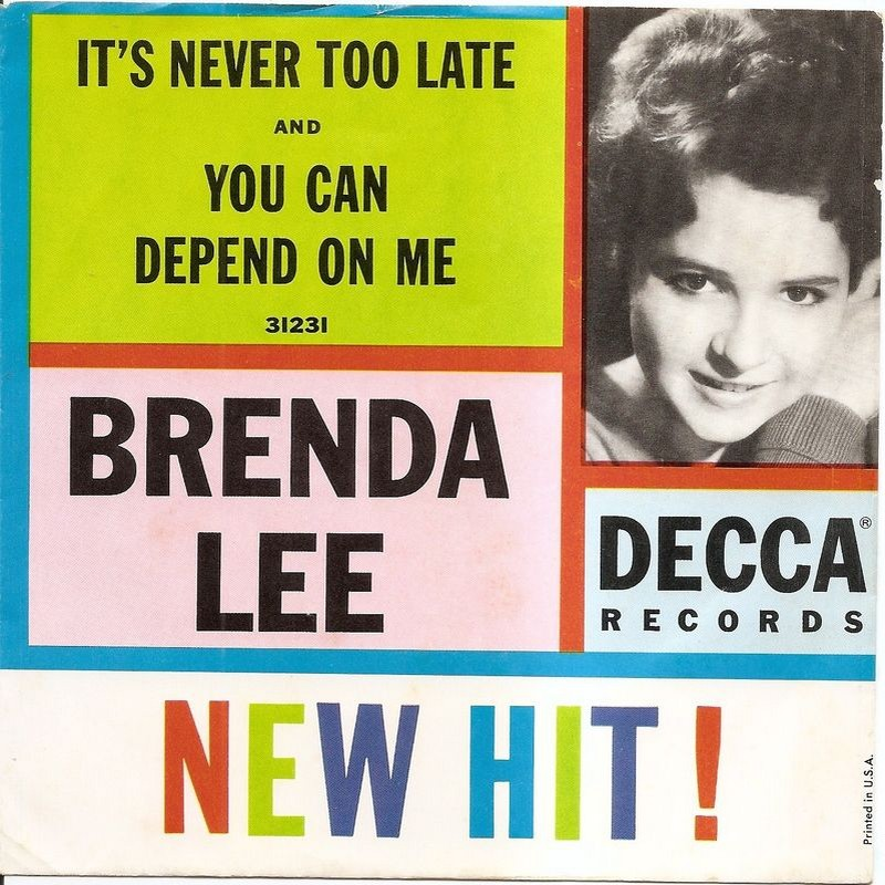 Image result for brenda lee you can depend on me