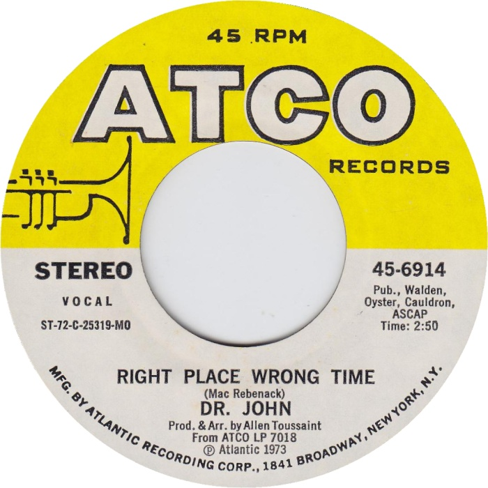 Image result for right place wrong time dr john