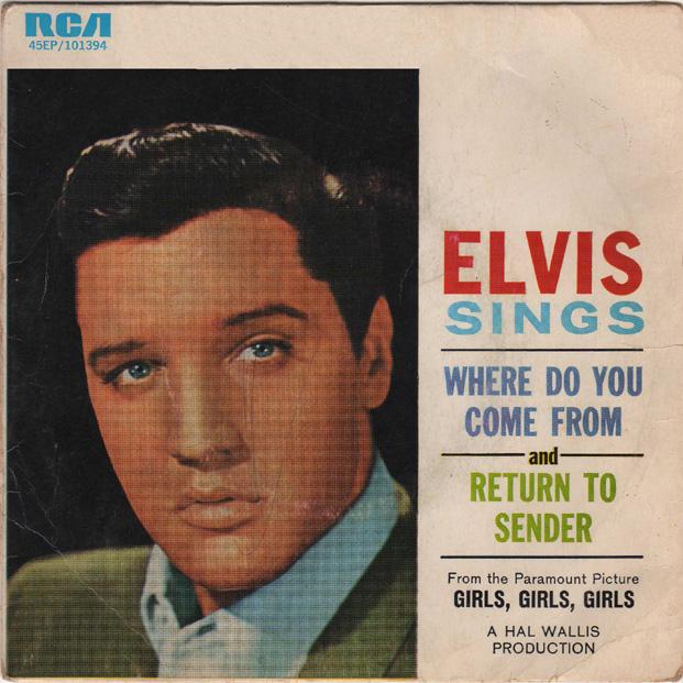 Image result for Elvis presley return to sender uk single