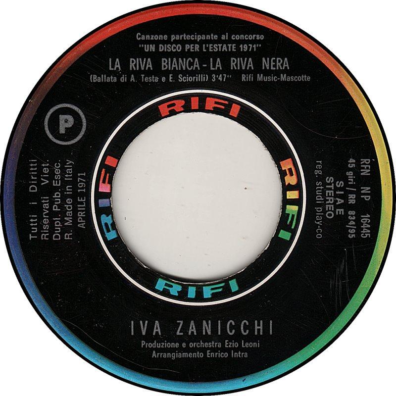 45cat Iva Zanicchi La Riva Bianca La Riva Nera Tu