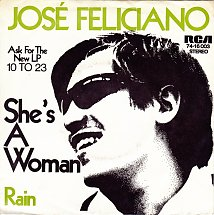 45cat - José Feliciano - She's A Woman / Rain - RCA Victor - Germany -  74-16 003