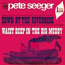 Image result for waist deep in the big muddy pete seeger images