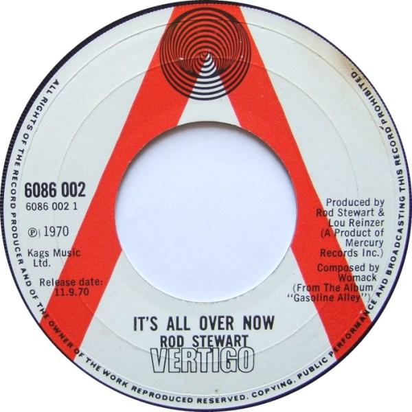 45cat - Rod Stewart - It's All Over Now / Jo's Lament ...