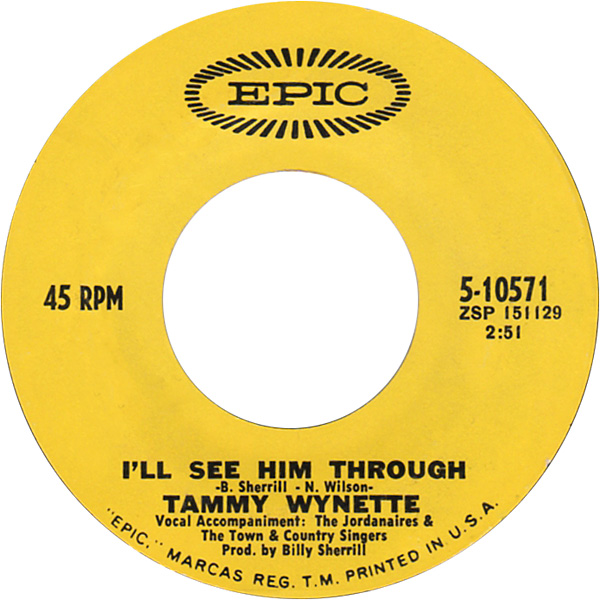 Image result for i'll see him through tammy wynette single images