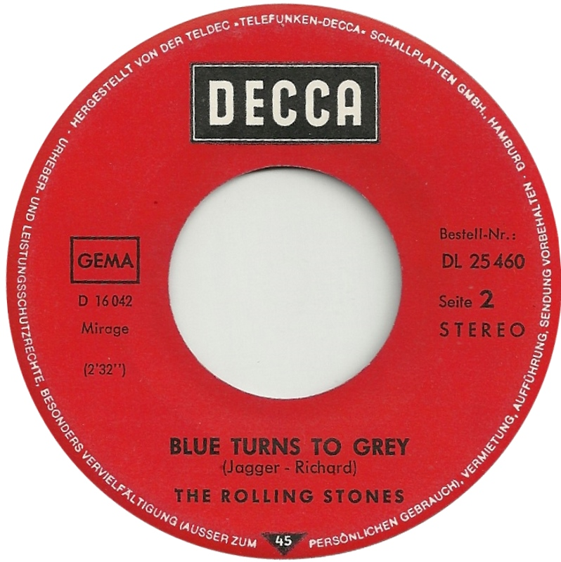 Image result for the rolling stones blue turns to grey images