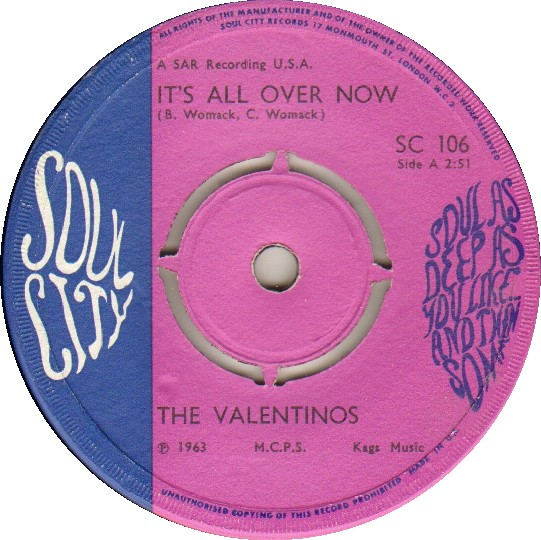 45cat - The Valentinos - It's All Over Now / Tired Of ...