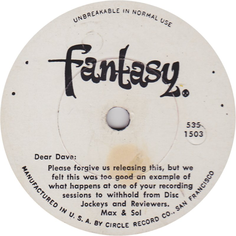 Image result for fantasy 535 trolley song dave brubeck 78rpm