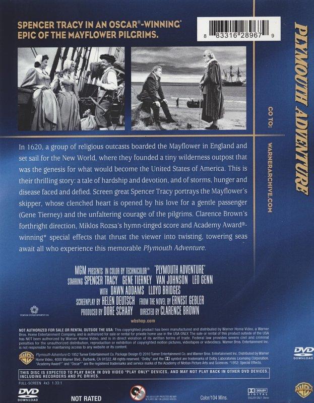Dvd Plymouth Adventure Warner Home Video Usa
