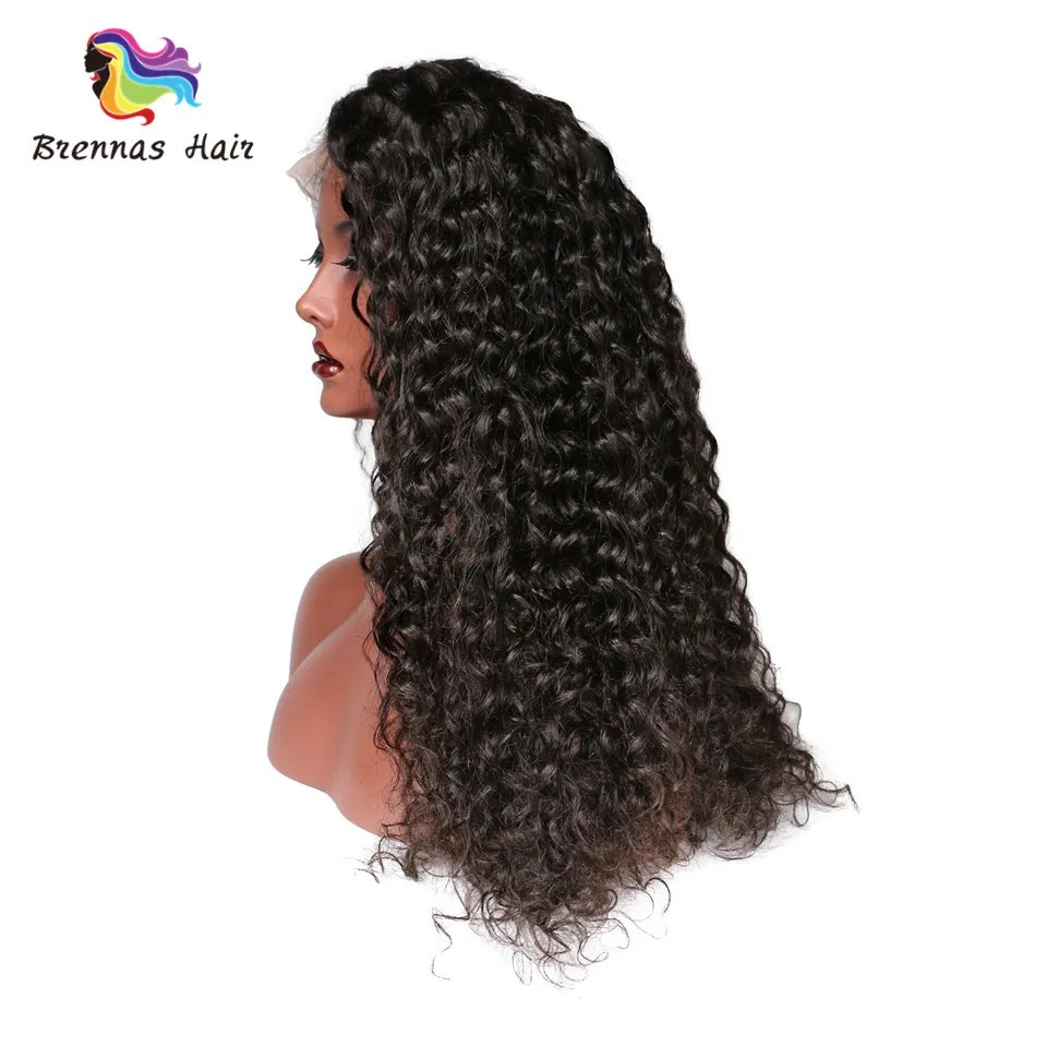 Brazilian Human Virgin Hair Deep Wave Full Lace Human Hair