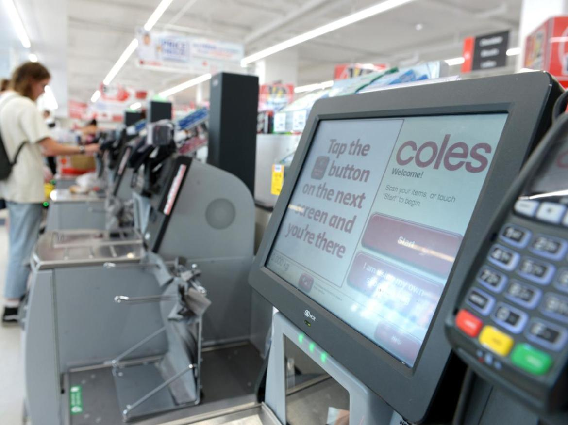 Coles is trialling cameras at self-serve checkouts in a bid to deter crime. File image.