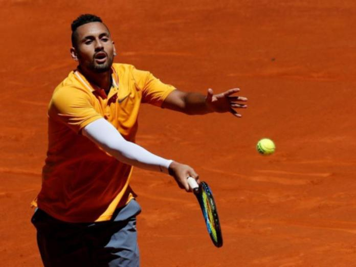 Nick Kyrgios is out of Madrid Open single after his first round loss to Jan-Lennard Struff.