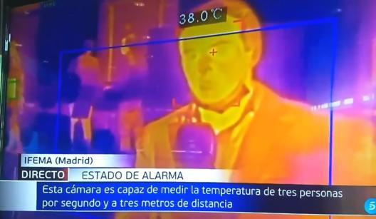 un jurnalist spaniol testat cu camera termică