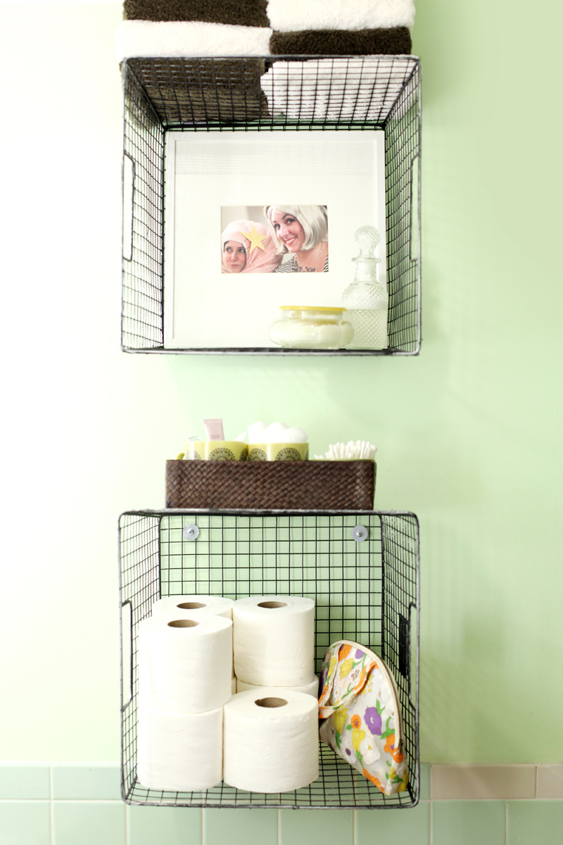 Try This Hanging Baskets For Bathroom Storage A Beautiful
