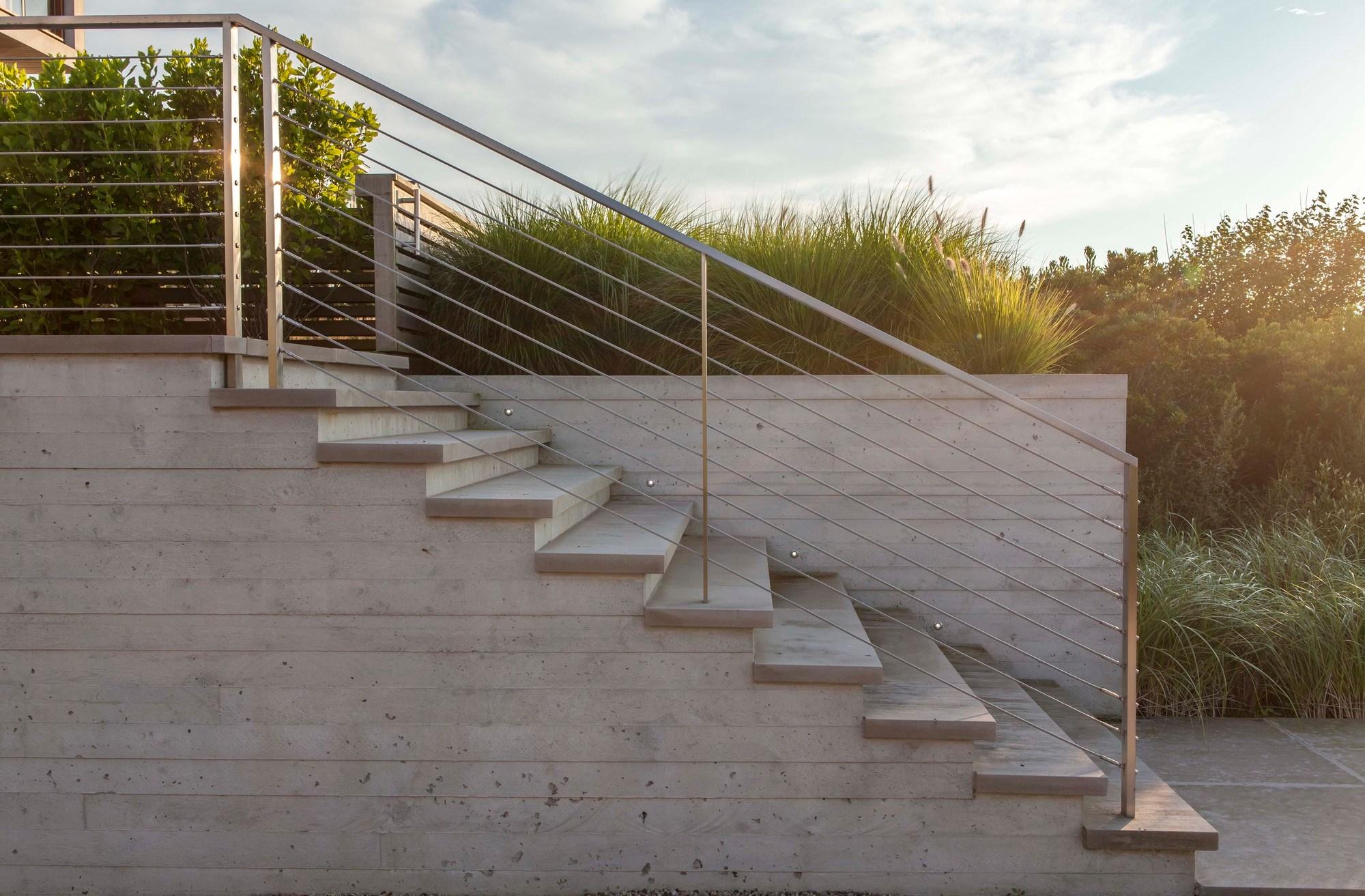 Modern Concrete Stairs Design Outdoor | Modern Stairs Design Outdoor | Indoor | Prefab Metal Residential Exterior | Terrace | Metal | Railing