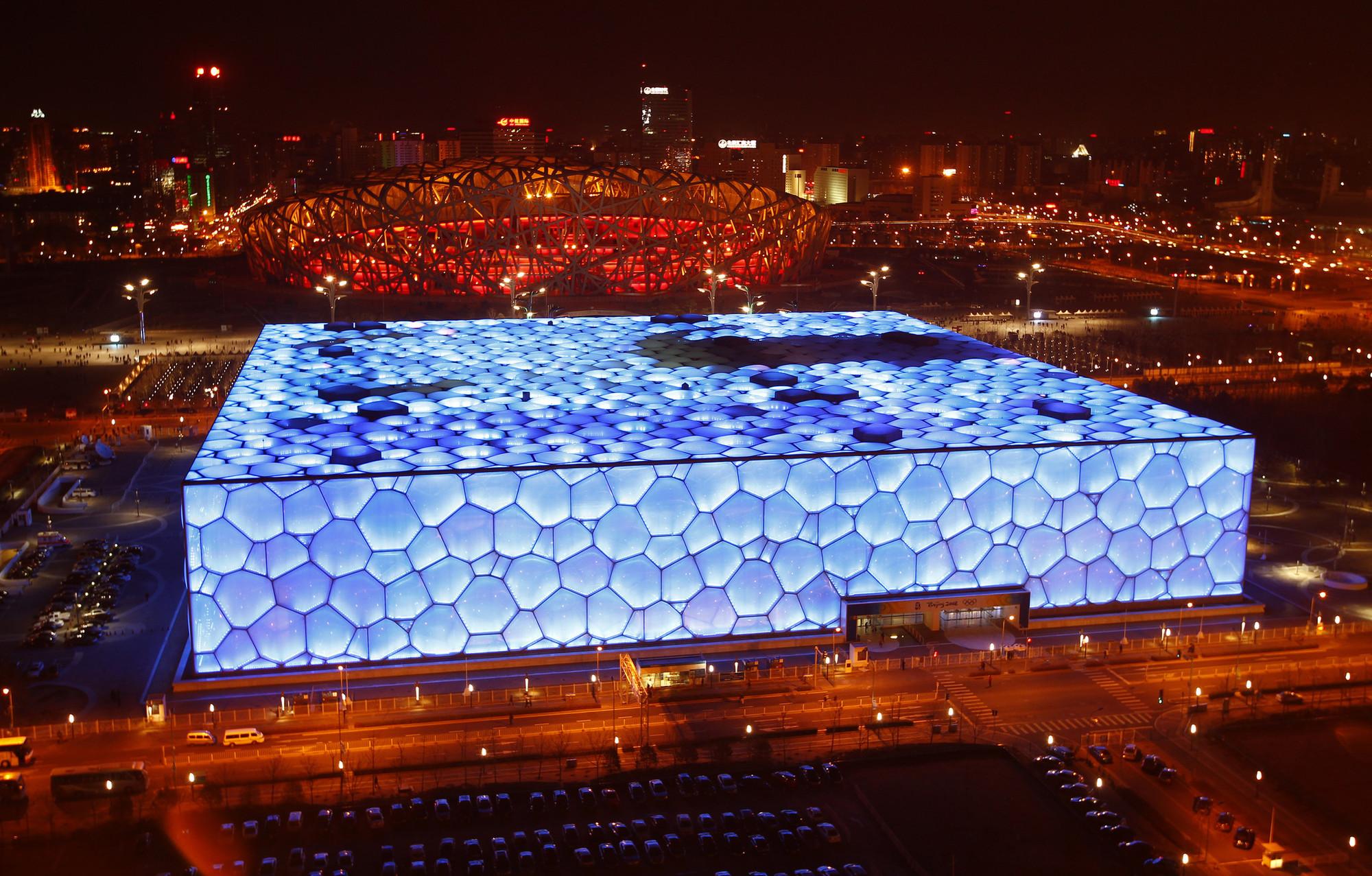 Resultado de imagen de pabellon olimpico de pekin y centro acuatico
