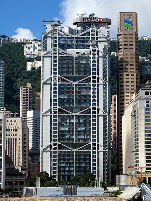 Hong Kong and Shanghai Bank. Image © Wikimedia user WiNG licensed under CC BY 3.0