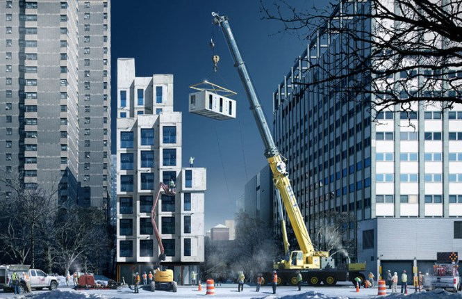 New York To Complete First Prefabricated Micro Apartments