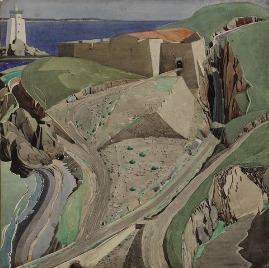 """The Fort"" by Charles Rennie Mackintosh. Image <a href='https://commons.wikimedia.org/wiki/File:Mackintosh,_The_Fort.jpg'>via Wikimedia</a> (public domain)"