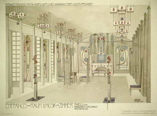 Design for a house for an art lover, 1901. Image © RIBA Library
