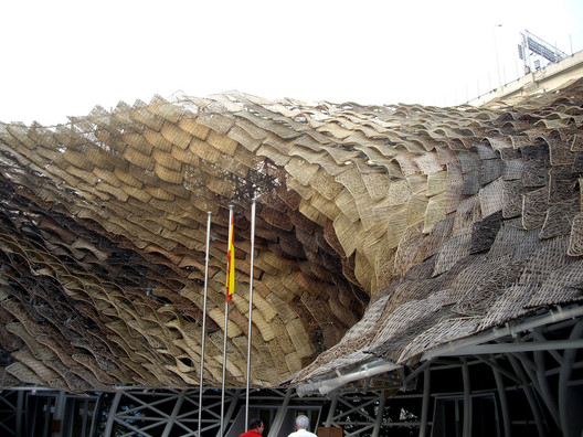 The Spanish Pavilion at the 2010 Shanghai Expo.