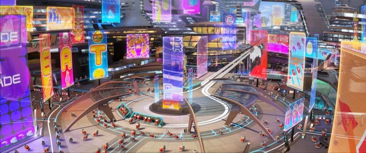 """""""Wall-E"""" mostra uma cabine de uma espaçonave concebida no mínimos detalhes. Quando tudo está projetado, cadê o espaço para a criatividade?. Imagem © Pixar"""