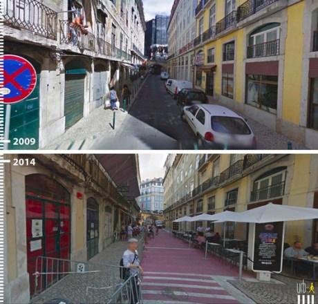 R Nova do Carvalho, Lisboa, Portugal. Cortesia de Urb-I