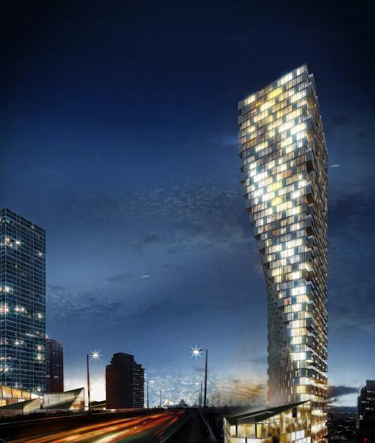 Winner in Residential Category. Vancouver House / BIG - Bjarke Ingels Group in Canada.