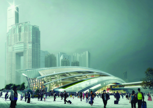 Best Future Building of the Year—Under Construction: The West Kowloon Terminus under the Hong Kong Section of the Express Rail Link project / Andrew Bromberg of Aedas. Image Courtesy of LEAF International