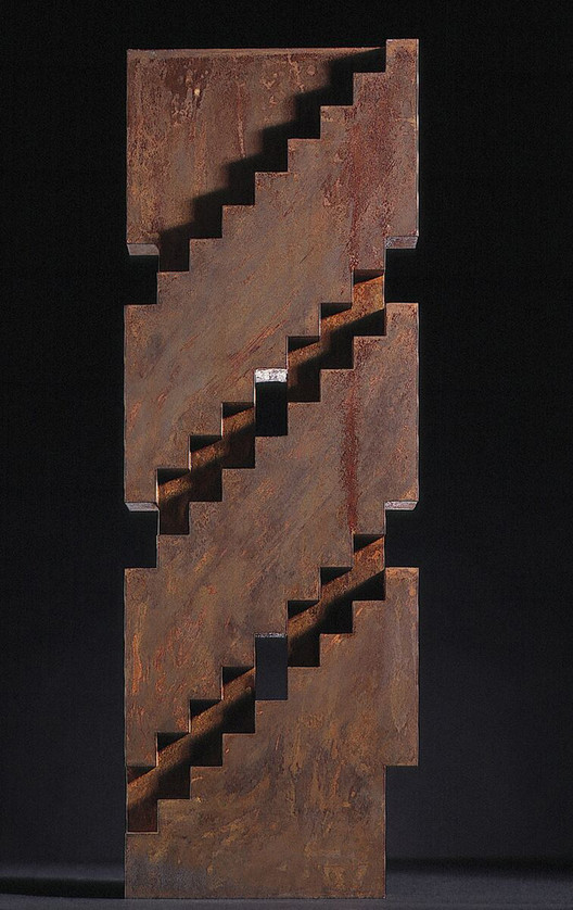 Architectural object, 1991. Rusted Steel. Image Courtesy of Juhani Pallasmaa