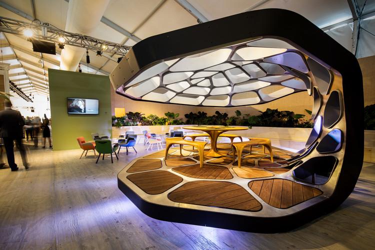 VOLU Dining Pavilion at Design Miami. Image Courtesy of Revolution PreCraft