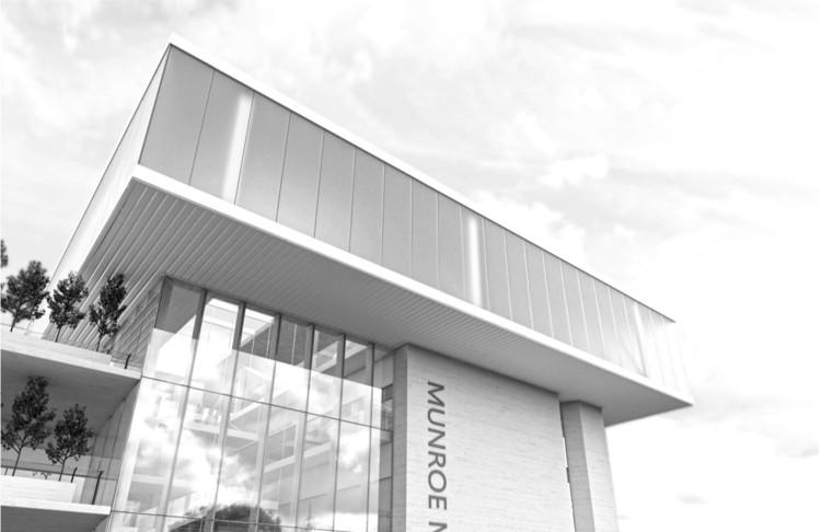 Munroe Meyer Institute, Exterior Rendering, Design: Brett Virgl, Ruth Barankevich. Image Courtesy of College of Architecture University of Nebraska–Lincoln