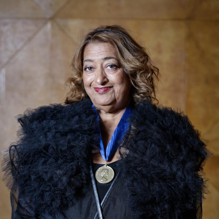 Zaha Hadid received the RIBA Royal Gold Medal in February 2016. Image via RIBA