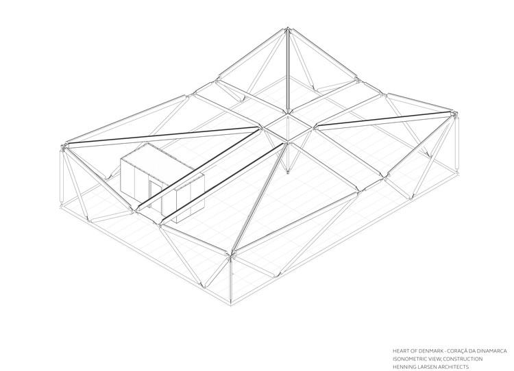 Pavilion Structure Isometric View. Image Courtesy of Henning Larsen