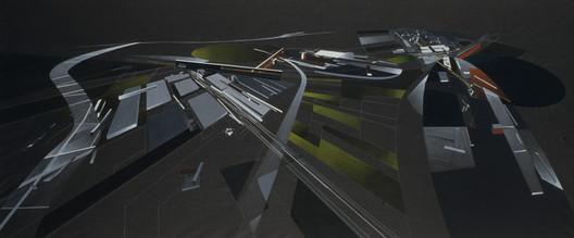 Painting (Zaha Hadid). Image Courtesy of Zaha Hadid Architects