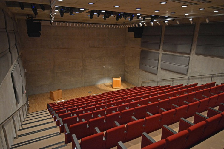 Yale Center for British Art, Lecture Hall following conservation. Image © Michael Marsland