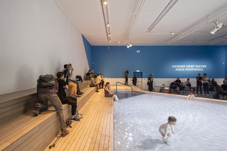 """The Pool"" in the Australian Pavilion. Image © Laurian Ghinitoiu"